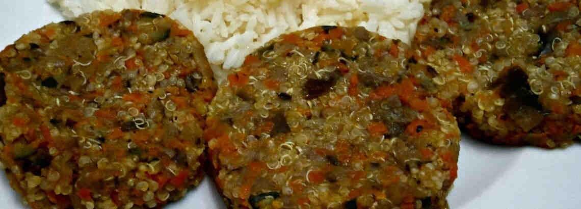 Hamburguesa de quinoa y vegetales – Chef Endorfínico Alfe